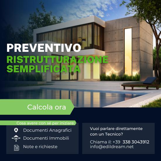 Preventivo ristrutturazione semplificata edildream